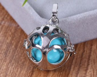Pregnancy Maternity Angel Caller Ball Necklace Silver Ball Pendant Tree of life Charms Harmony Ball Chime Jewelry Gift For Shower