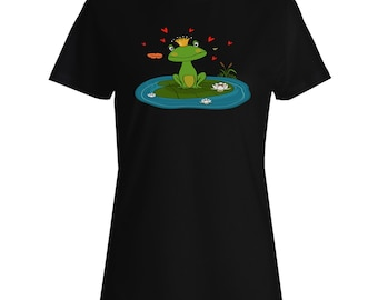 frog princess Ladies T-shirt v693f