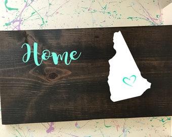 New Hampshire Home Plaque