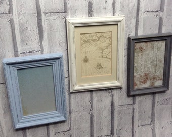 Shabby chic style frames |Frames | chalk painted frames | up-cycled photo frames