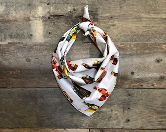 Cold Beer IPA Stout Lager Tie On Dog Bandana