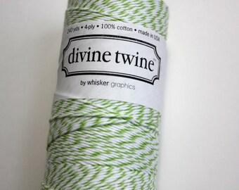 Twine de Baker's - Green Apple Divine Twine - 20 yards vert et blanc