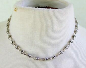 PREMIER DESIGNS Necklace Silver Tone Link