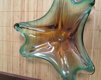 Murano Art Glass Dish Mid Century Modern