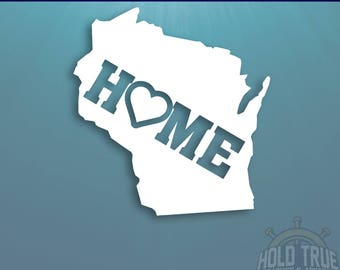 Wisconsin Decal - PICK COLOR and SIZE - Wisconsin Home Decal - Wi Decal - Wisconsin Car Decal - Wisconsin sticker - Wisconsin
