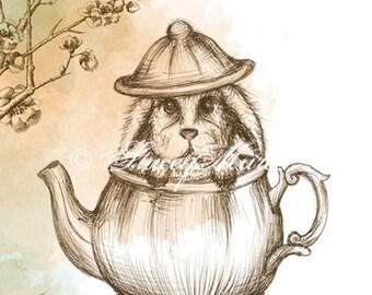 "The Rabbit - ""Woodland Creatures"" series Art Print"
