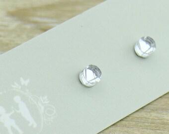 Clear Mirrored small stud Earrings - Laser Cut Stud Earrings - Australian Seller