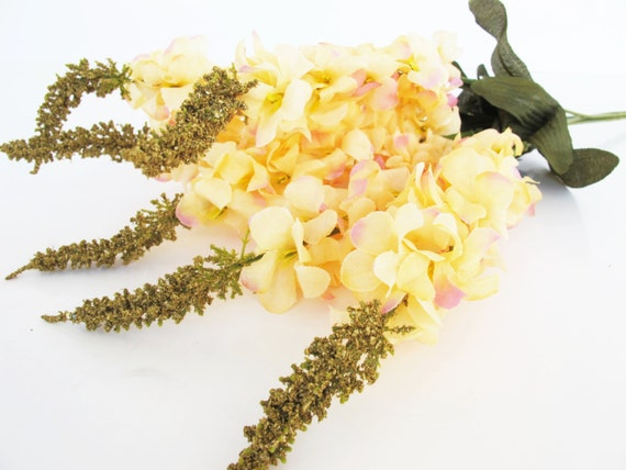 8 delphinium branches silk flowers branch artificial soft yellow 8 delphinium branches silk flowers branch artificial soft yellow flower green leaves bush blossoms floral flower supplies faux fake diy from mightylinksfo