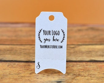 """Mini Perforated Ticket   Tear Away   Custom Tags   0.75""""x1.5""""  Personalized with Logo Text - Jewelry Tags - Price Tags - Hang Tags"""