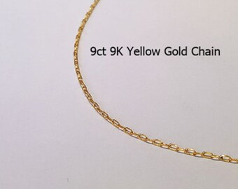 9ct 9K 375 Yellow Gold Trace LInk Type Chain Necklace for Pendant Jewellery