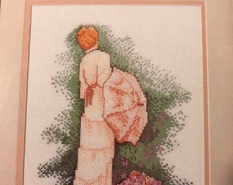 APRILSALE Vintage counted cross stitch  Color Charts Grace pattern