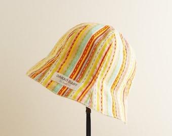 Baby sun hat, girls summer hat, baby girl sun hat, reversible sun hat, toddler sun hat, toddler hat for girl, baby hat girl - made to order