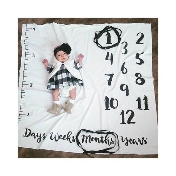 Baby Monthly Milestone Blanket