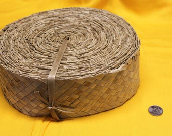 lauhala belt 2 1/2 inch wide, 6.5 cm wide Lauhala, woven, Belting, ribbon, panandus