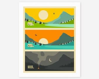 CAMPFIRE (Giclée Fine Art Print/Photo Print/Poster Print) by Jazzberry Blue (version 2)