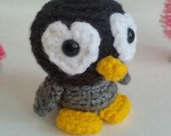 Mini Crochet Penguin, Stuffed Animal Penguin, Mini Plush Penguin, Kid's Birthday Gift, Toy Arctic Animal, Gifts under 30,Amigurumi Penguin