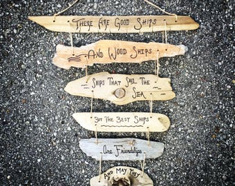 Friendship Best Friend Driftwood Sign Collage - custom, personalized gift, inspirational quote, sister, gift for her, birthday, couple