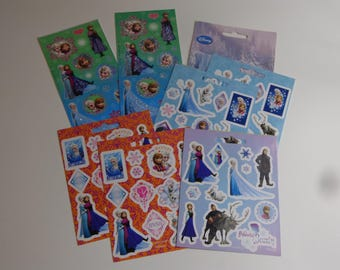 Official Disney Frozen Cartoon Characters Mini Stickers Destash Lot of over 75 Decals Ephemera Stationery Paper Party Favors Gifts