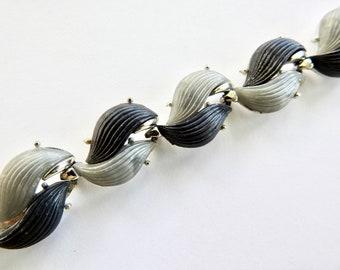 Black and Grey Lucite Bracelet