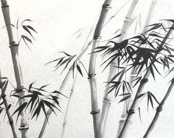 Chinese Painting, The Bamboo, Ink Painting, Original artwork.