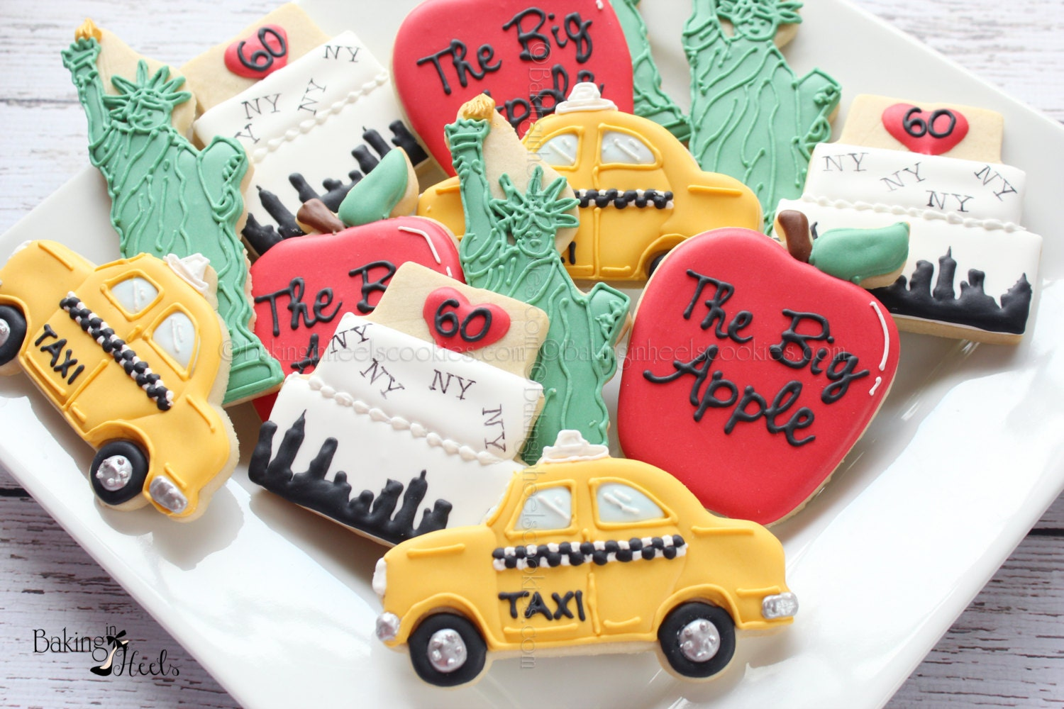 New York Themed Decorated Cookies NYC Cookies I love NY