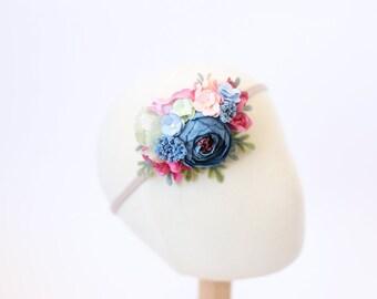 baby headband, flower crown headband baby, newborn headband, baby flower crown, floral crown baby, girls headband, baby girl photo prop
