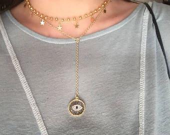 Long Evil Eye Necklace