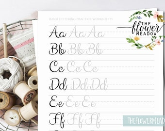 Calligraphy tutorial, Brush lettering worksheets, lettering practice wedding learn calligraphy hand lettering guide brush alphabet 01