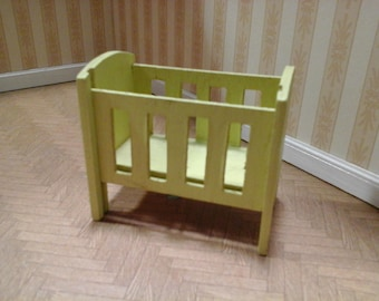 16th Scale Doll's House Wooden Dropside Cot by Barton from around the 1960s