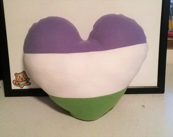 Queer Prideheart Pillow