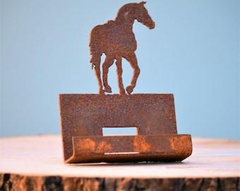 Handmade desk decor horse etsy stallion business card holder rustic office decor western metal art farm and ranch decor running horse art trotting horse ch304 colourmoves