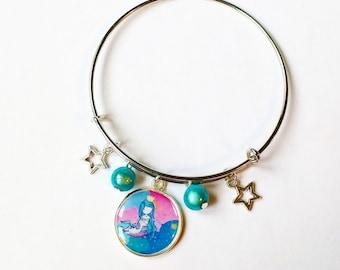 Stretch Bracelet: Mermaid and Unicorn