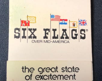 Vintage Six Flags Over Mid America Matchbook
