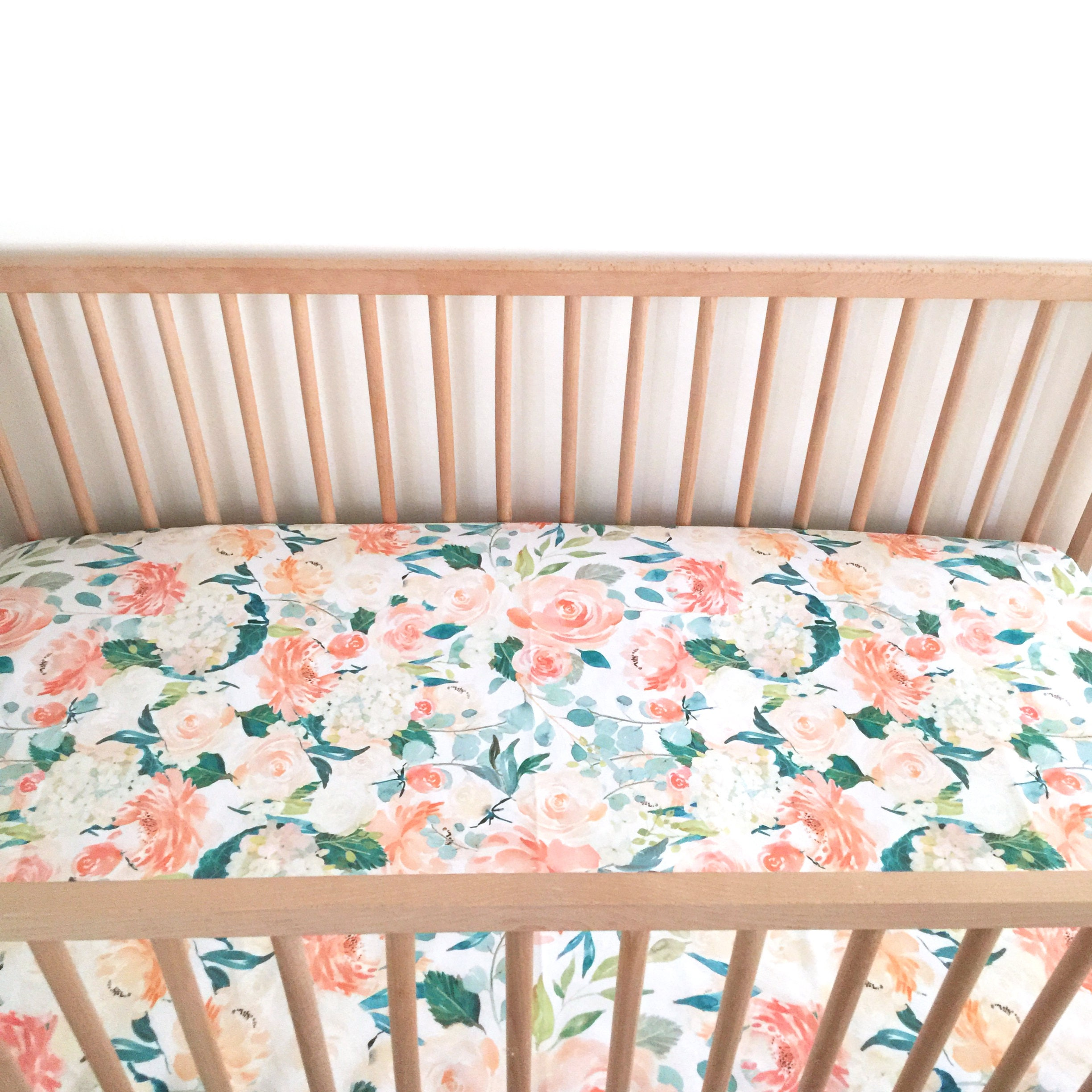 large cribs blush pink size full interior l of girl crib coral nursery peach gold bedding fascinating and