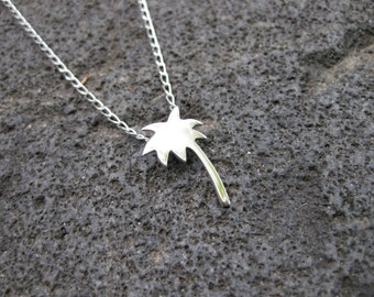 Sterling Silver Palm Tree Necklace.
