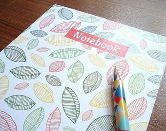 Recycled Lined Notebook, Patterned Notebook