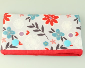 Red Flower Needle Cosy/ Case/ Protector