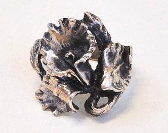 Vintage Ring - Vintage Sterling Silver Flower Ring