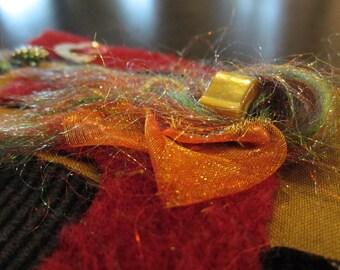 Fuzzy Foy You: Textile / Fabric Handmade Card