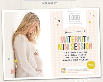 Photography Marketing Board /Maternity Mini Session - Photoshop Template for photographers (DM6) - INSTANT DOWNLOAD