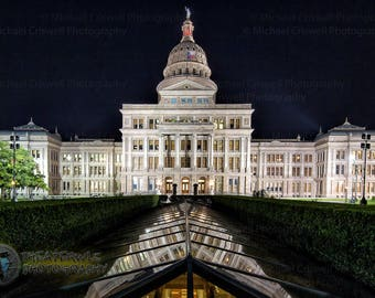 ATX State Capitol Fine At Photographic Print