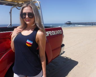 Women's tank top with serape pocket