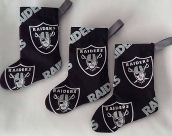 Raiders mini stocking set of 3