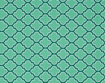 Joel Dewberry Atrium Lodge Lattice Turquoise - Team this up with a Floral for a great project result  - FWM