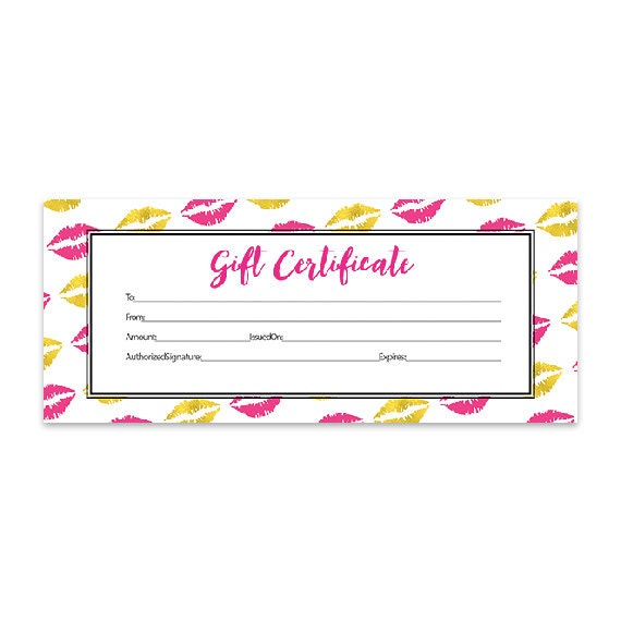 Gold lips lips hot pink lipsense pink lips blank gift gold lips lips hot pink lipsense pink lips blank gift certificate download gold direct sales premade senegence printable from cafeink on etsy yadclub Image collections
