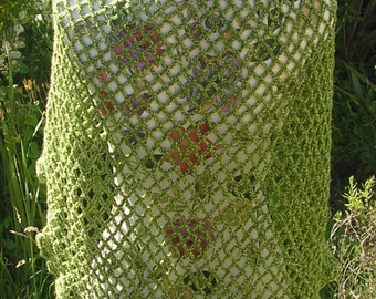 Handmade Green Shawl