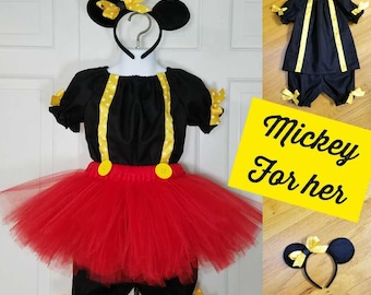 Mickey Mouse Inspired Costume, Mickey for Her, Mickey Mouse Halloween,  Mickey Mouse Birthday, Mickey Meet & Greet, Disney Outfit