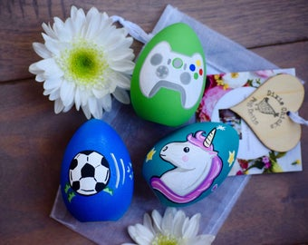 Personalized egg etsy custom easter gifts for kids kids painted easter eggs personalized easter eggs custom negle Gallery