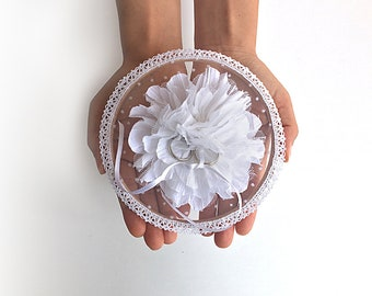Unique Ring Pillow, Ring Pillow Alternative, Ring Holder, Floral Ring Holder, Wedding Ring Holder, Boho Wedding, Floral Ring Holder, Flowers