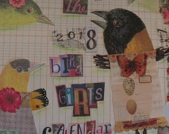 2018 Calendar, Bird Girl Calendar